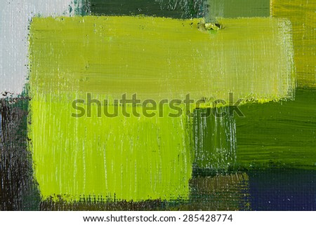 abstract wallpaper, texture, background of an original oil grey and green painting on canvas with brush strokes.