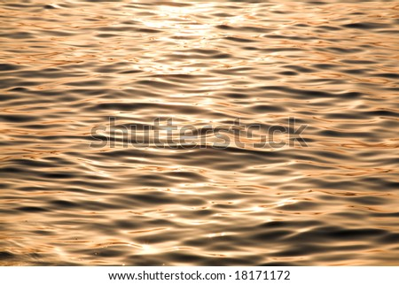 abstract water background in orange colour