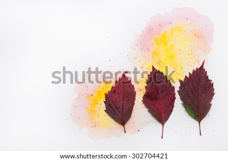 Abstract Water Color Autumn Background