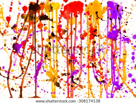Abstract water color painting arts for backgrounds