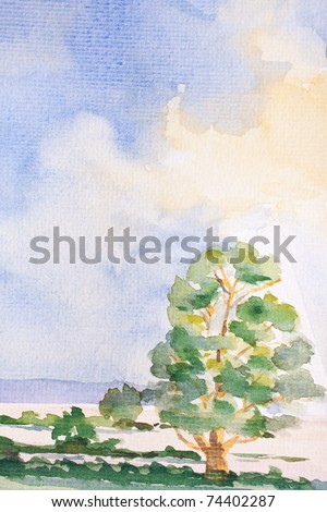 abstract water color - tree