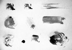 Abstract water colour grunge and dirty texture - black and white color