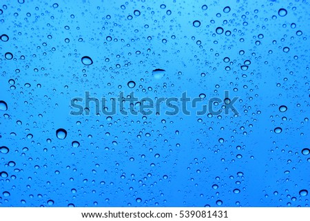 abstract water drop on blue background. #539081431