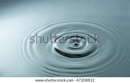Abstract water drops close up
