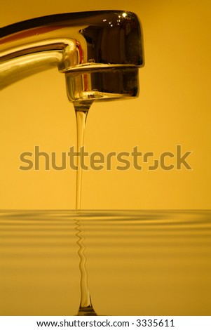abstract water faucet reflection concept
