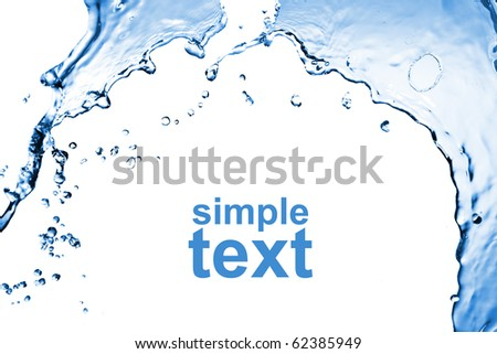 abstract water splash isolated on white