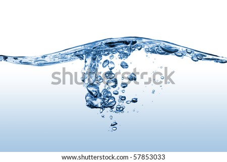 abstract water splash with bubbles