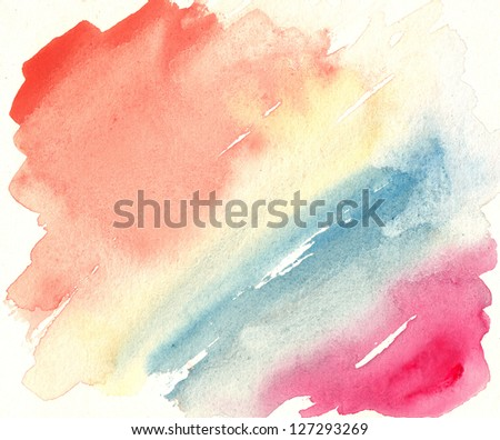 Abstract watercolor art