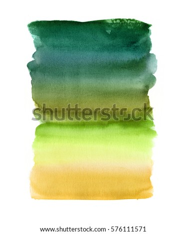 abstract watercolor background, blend, brush strokes, creative illustration, grass green yellow color palette