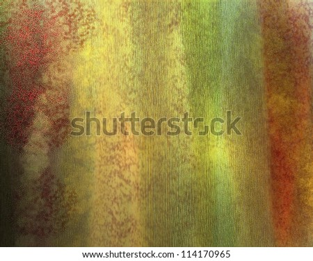 abstract watercolor background or yellow gold background with red pink frame has vintage grunge background texture light and wrinkled faded old material design, distressed colorful background for web