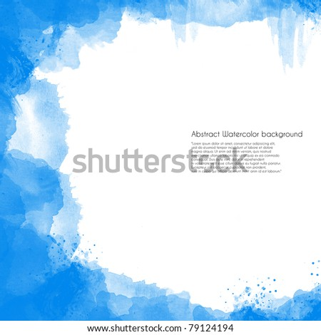 Abstract Watercolor background perfect frame