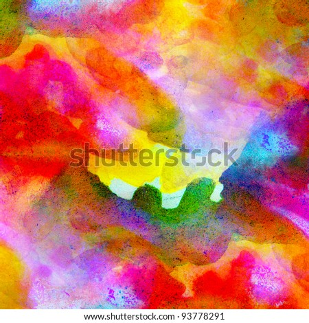 abstract watercolor color canvas painting colorful watercolour  background with blots