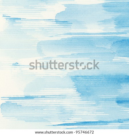 Abstract watercolor hand painted artistic background.