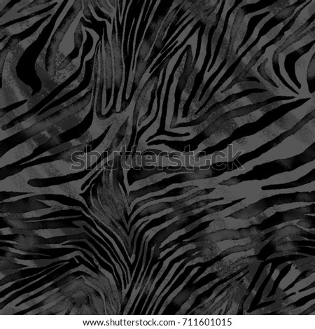 Abstract watercolor hand painted background. animal zebra skin. Seamless pattern.