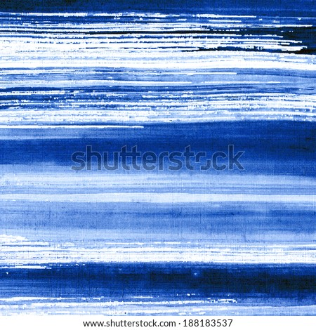 Abstract watercolor hand painted brush strokes striped background blue water and waves