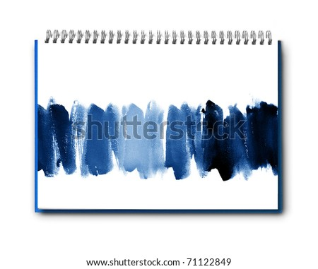Abstract watercolor hand painted on book background