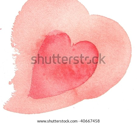 abstract watercolor heart background