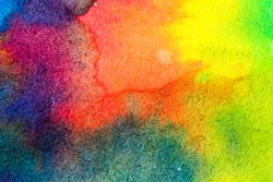 Abstract watercolor palette of blue colors, mix color, background, illustration,a mixture of colors, stains with a spray of water colors, the author's work.