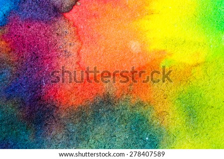 Abstract watercolor palette of blue colors, mix color, background, illustration,a mixture of colors, stains with a spray of water colors, the author\'s work.