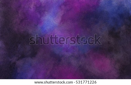 Abstract Watercolor Universe Space Background - Ultra Hi-Res 87 Mpix