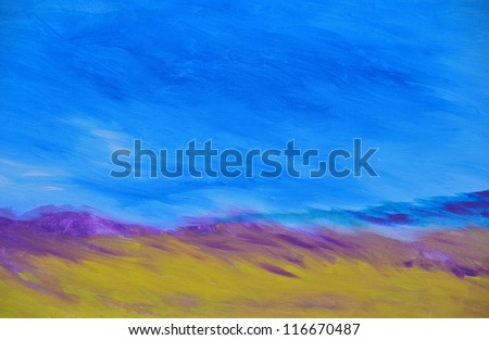 abstract watercolors of a seascape