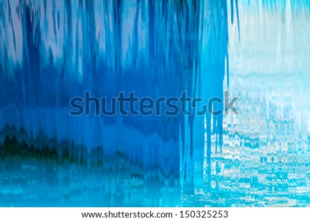 Abstract waterfall background. You can see the footage too!