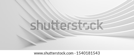 Abstract Wave Background. Minimal White Geometric Wallpaper. 3d Rendering