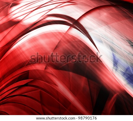 Abstract wave background, red color