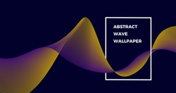 abstract wave lines in 4k quality