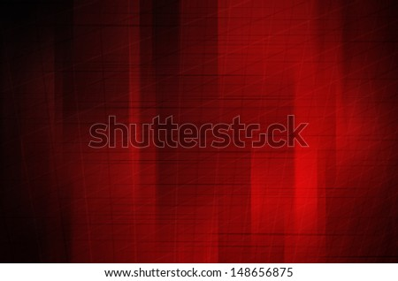 Abstract wave lines on red background.