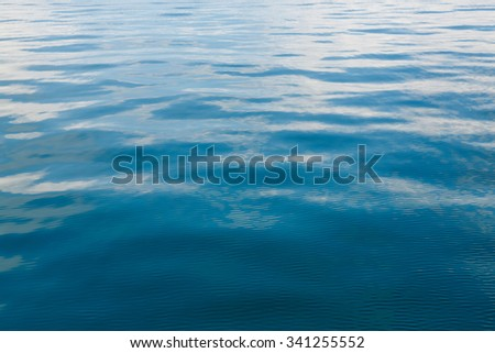 Abstract wave reflection on sea water surface