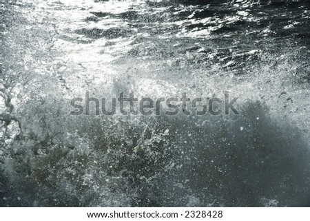 Abstract wave splash close-up #2328428