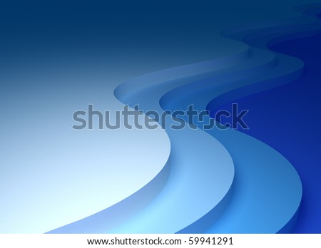 Abstract waves 3D background