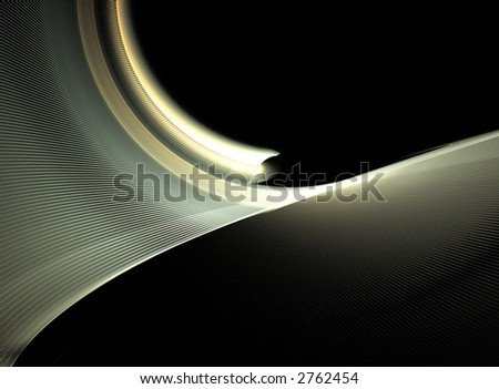 abstract wavy design element on black background