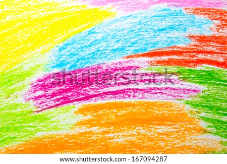 Abstract wax crayon hand drawing background