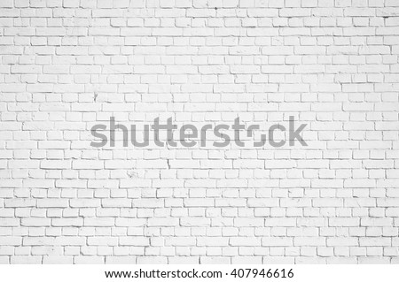 Abstract weathered texture stained old stucco light gray and aged paint white brick wall background in rural room, grungy rusty blocks of stonework technology color horizontal architecture wallpaper  #407946616