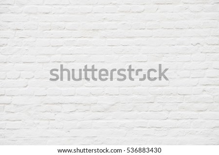 Abstract weathered textured  white brick wall background