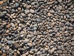 Abstract web banner, texture of small colored pebbles.