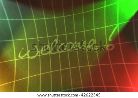 abstract Welcome Sign - stock photo