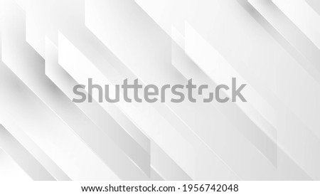 Abstract white and grey background. Subtle abstract background, blurred patterns. Light pale vector background. Abstract pale geometric pattern. Foto d'archivio ©