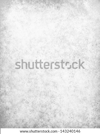 Abstract White Background Gray Parchment Texture Or Soft Distressed Vintage Texture On Old Faded White Paper For Elegant Brochure Or Website Template Design, Linen Canvas Texture In Gray Or Silver