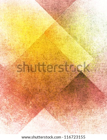 abstract white background or red background with old parchment grunge texture in plaid art background block layout design with yellow gold color accent on paper with vintage grunge background texture