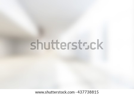 Abstract White Blur Interior Of background