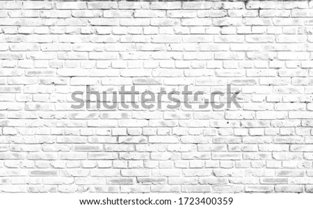 Abstract  white brick wall textured background