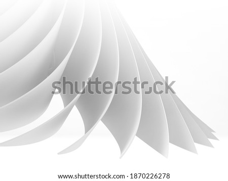 Abstract white cgi background, 3d rendering illustration Сток-фото ©