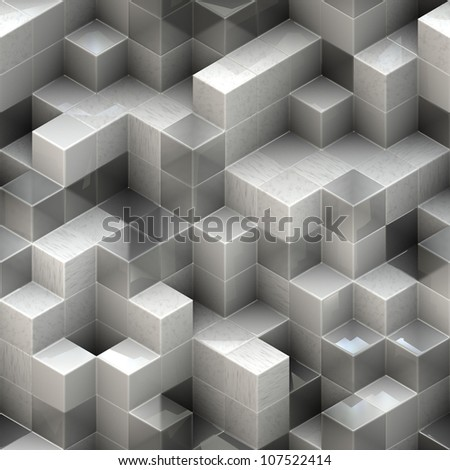 abstract white cubes background