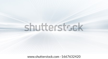 abstract white futuristic background with fractal horizon Photo stock ©