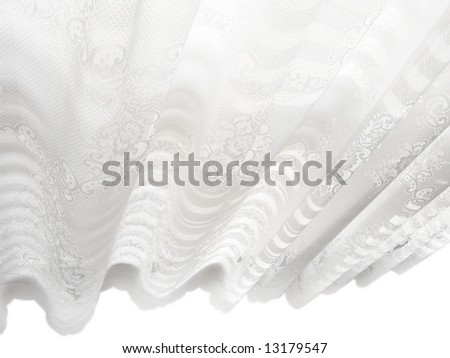 Abstract white lace blinds window pattern background
