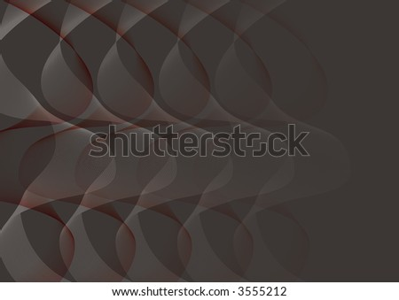 abstract white red twist on black (raster) - illustrated background