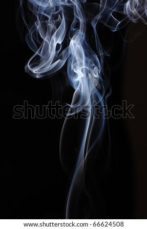 abstract white smoke on black.